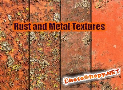 Rust, Moss, and Metal Textures for Photoshop