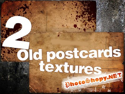 New 2 Old Postcards textures for Photoshop