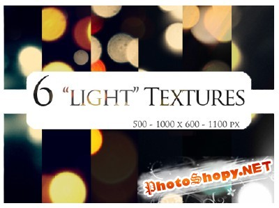New 6  Light Textures for Photoshop