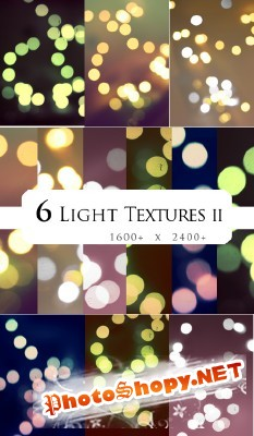New 6  Light Textures II for Photoshop