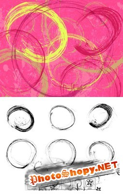 Brushes set - Thin Ink Circles