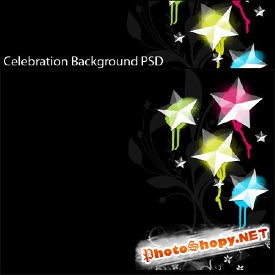 Psd Star Backgrounds for Photoshop