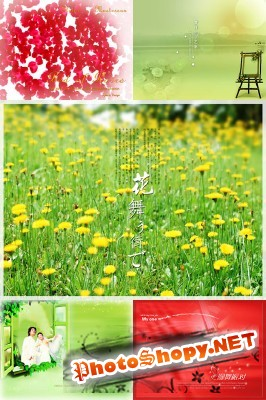 New PSD Flowers collection for Photoshop 2012 pack 2