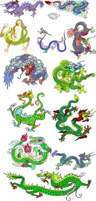 New Collection of dragons Psd 2012 for Photoshop