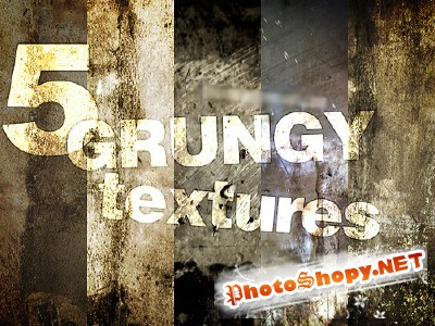 5 Grungy Textures for Photoshop