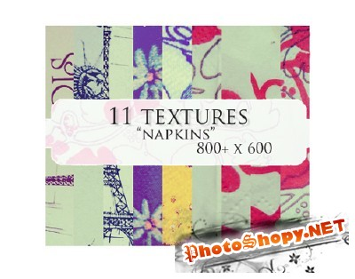 "11 ""Napkins"" Textures for Photoshop"