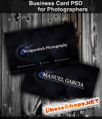 New Business Card Psd for Photographer