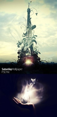 Saturday Wallpaper Psd Files for Photoshop