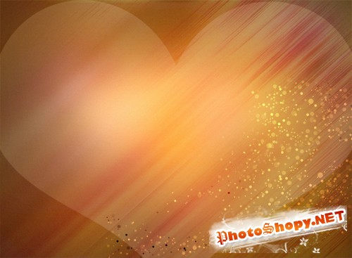 background PSD heart-shaped