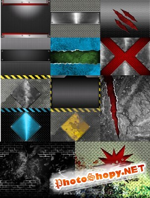 Cool Collection of  Metal Backgrounds for Photoshop pack 4