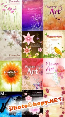New PSD Flowers Spring collection for Photoshop 2012 pack 4