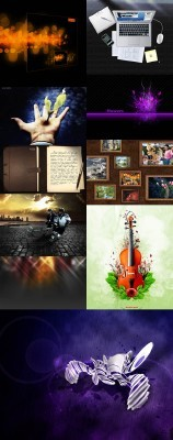 New PSD Source Collection for Photoshop 2012 pack 11