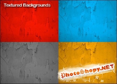 Colorful Distressed Textures for Photoshop