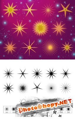 Fairy Stars Brushes set for Photoshop