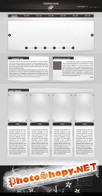 Webpage Template Psd for Photoshop