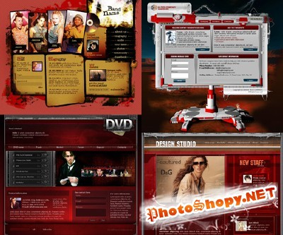 Photoshop Templates pack 4