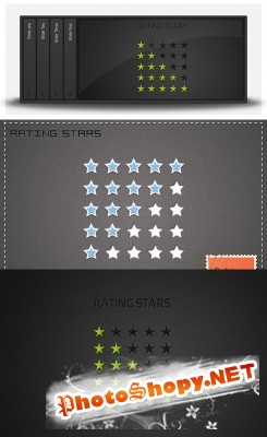 Rating Stars Psd for Photoshop