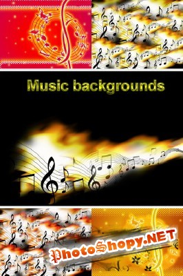 Music Backgrounds for Photoshop
