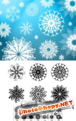 Flurry of Snowflakes Brushes set for Photoshop