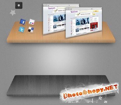 Black and Brown Shelf for Photoshop