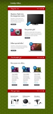 Holiday Offers Newsletter for Photoshop