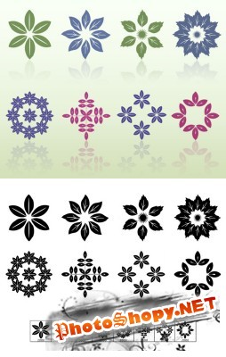 Leaf Motifs Brushes Set for Photoshop