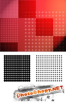 Dotted Square Brushes Set for Photoshop