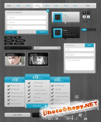 Blue Psd Package File for Photoshop