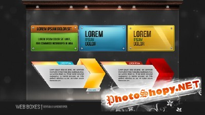 New Web Boxes Psd for Photoshop