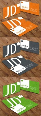 Colored Grunge Business Cards