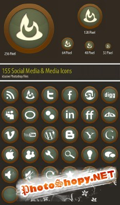 Media Icons Set - Green