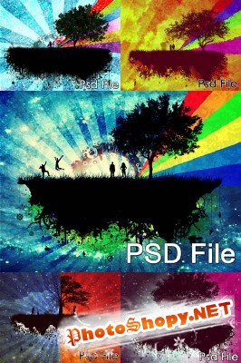Island psd collection for Photoshop