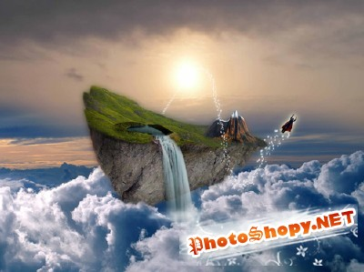 Psd Floating Island for Photoshop