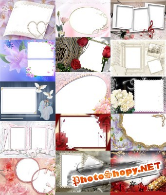 Photo frames for Valentine's Day pack 21 for Photoshop