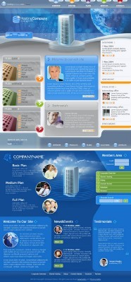 Blue Web Template pack for Photoshop
