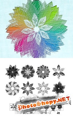 Art Flowers Brushes Set for Photoshop