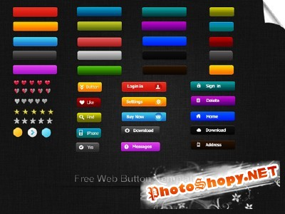 Web Button Templates for Photoshop