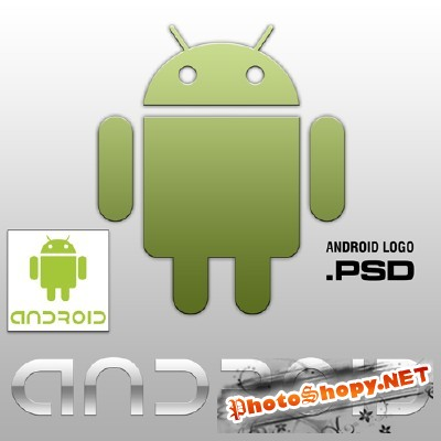Android Logo Psd for Photoshop