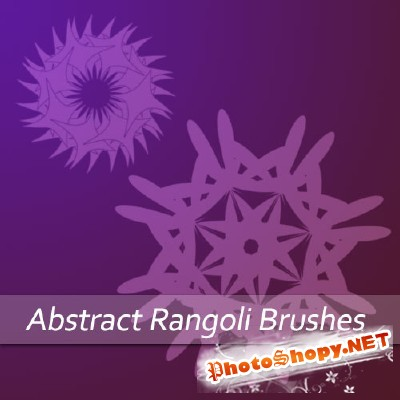 Abstract Rangoli Brushes for Photoshop