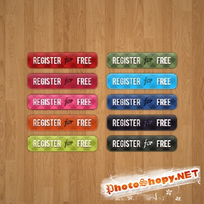 Buttons Psd Pack for Photoshop