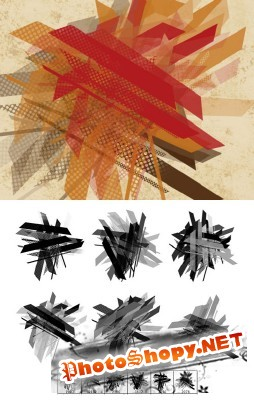 Retro Shatter Brushes Set for Photoshop