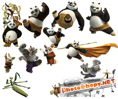 Kung Fu Panda Psd for Photoshop