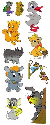 Children's cartoon characters for Photoshop