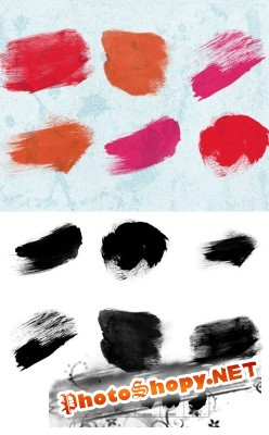 Big Paint Dabs Brushes Set for Photoshop