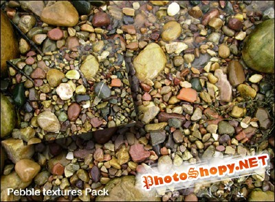 Pebble textures pack for Photoshop
