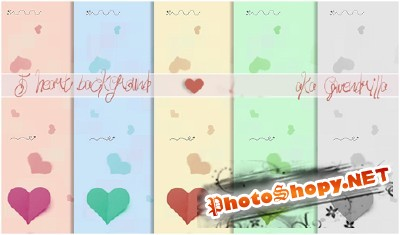 5 Heart Backgrounds for Photoshop