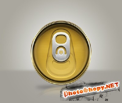 Unopened Soda Beer Can Top PSD for Photoshop