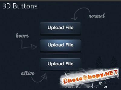 3D Layered Button for Photoshop