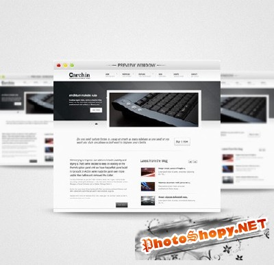 Simple Attractive Preview Window PSD for Photoshop