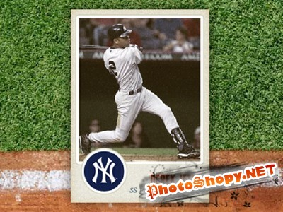 Custom Sports Card for Photoshop